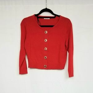 Calvin Klein Red Cropped Cardigan MP